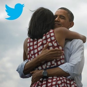 Obama sur Twitter : Four more years